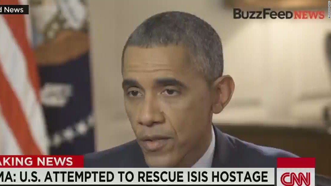 Obama talks about decision not to pay ransom for ISIS hostage, rescue attempt