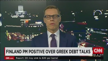 exp Finland PM positive over Greek debt talks_00002001