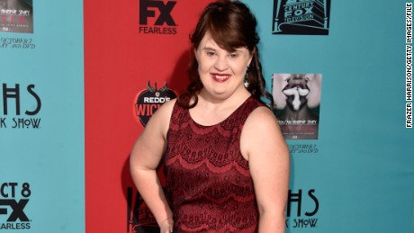 Actress Jamie Brewer will walk in the Carrie Hammer show at New York Fashion Week.