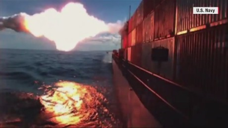 See the U.S. Navy launch Tomahawk missile into ship