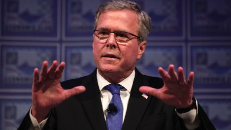 DETROIT, MI - FEBRUARY 4: Former Florida Governor Jeb Bush speaks at the Detroit Economic Club February 4, 2015 in Detroit, Michigan. Bush, the son of former republican President George H.W. Bush and the brother of former republican President George W. Bush, is considering becoming a republican candidate for the 2016 presidential election. (Photo by Bill Pugliano/Getty Images)