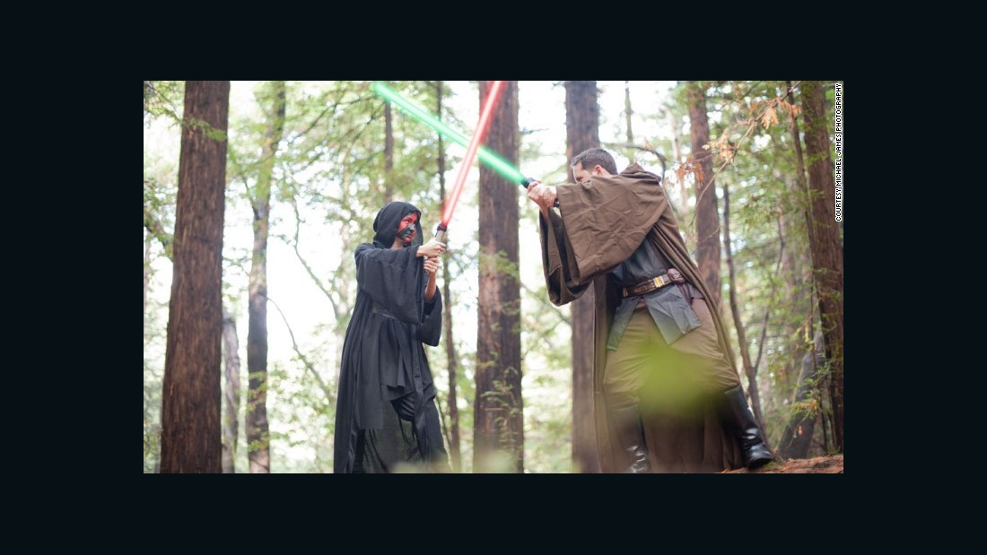Light saber duels ... we all know where that leads.