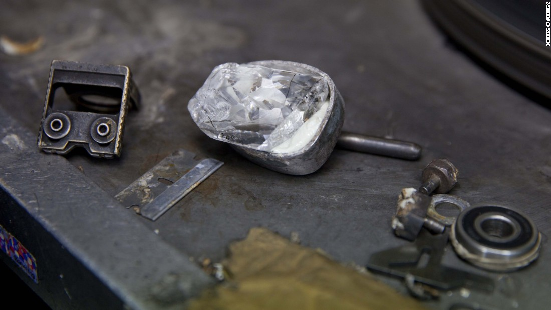 The original rough stone weighed over 200 carats before it was cut and polished to its current state.