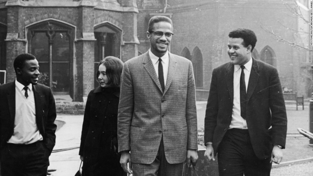 In December 1964, Malcolm X meets with students before the Oxford Union Debates in Oxford, England. He would be assassinated less than two months later.