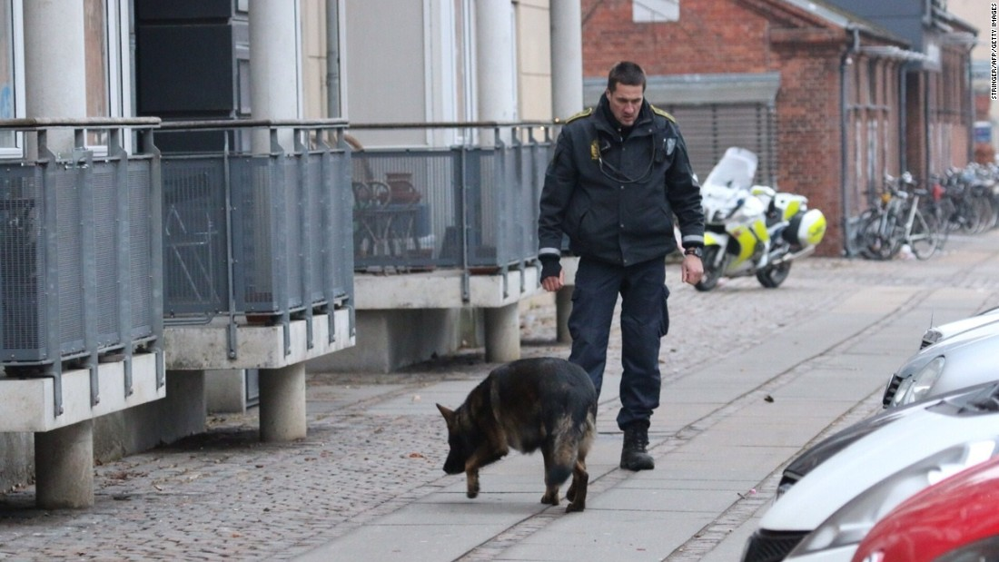 The attackers fled the scene in a dark Volkswagen Polo, according to Copenhagen police.