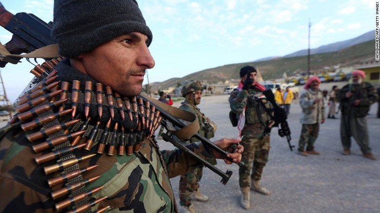 Kurdish forces push back ISIS offensive