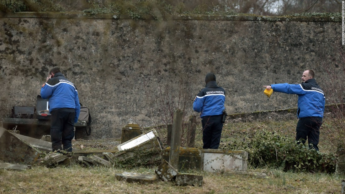 The vandalism comes within weeks of other Jewish cemeteries being targeted around the world.