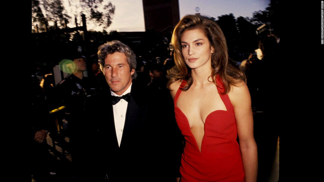 Richard Gere and Cindy Crawford arrive at the 63rd Annual Academy Awards in 1991; they were married that year and divorced in 1995.