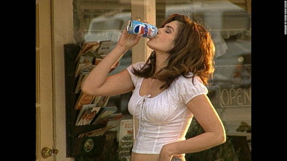 Crawford's endorsements have included Diet Pepsi (here in a 2002 ad).