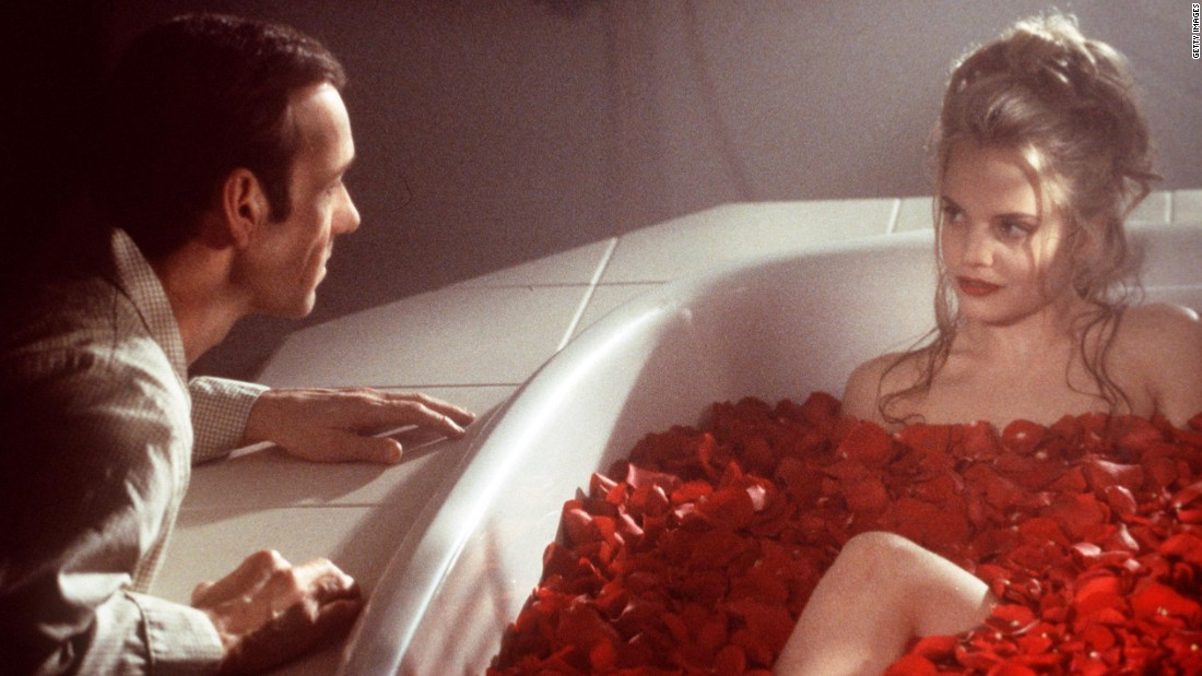 "Kevin Spacey stars as a frustrated middle manager who develops a crush on one of his daughter's friends (Mena Suvari) in ""American Beauty."" Besides the big prize, the film won best director for Sam Mendes and best actor for Spacey as part of its five Oscars. Also immortalized: a plastic bag blowing in the breeze."