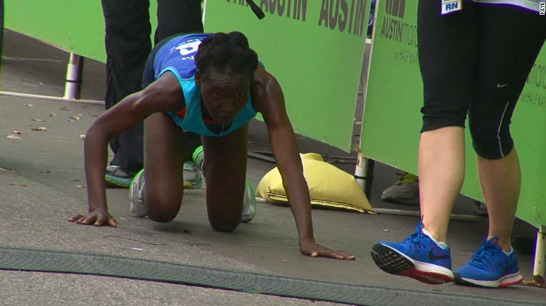 Marathon runner collapsed and then ....