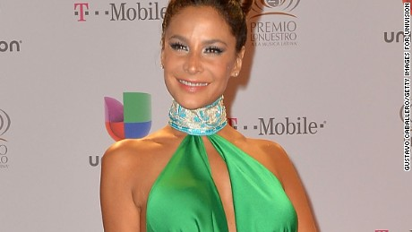 Caption:MIAMI, FL - FEBRUARY 21: Lorena Rojas arrives at the 25th Anniversary Of Univision's 'Premio Lo Nuestro A La Musica Latina' on February 21, 2013 in Miami, Florida. (Photo by Gustavo Caballero/Getty Images for Univision)