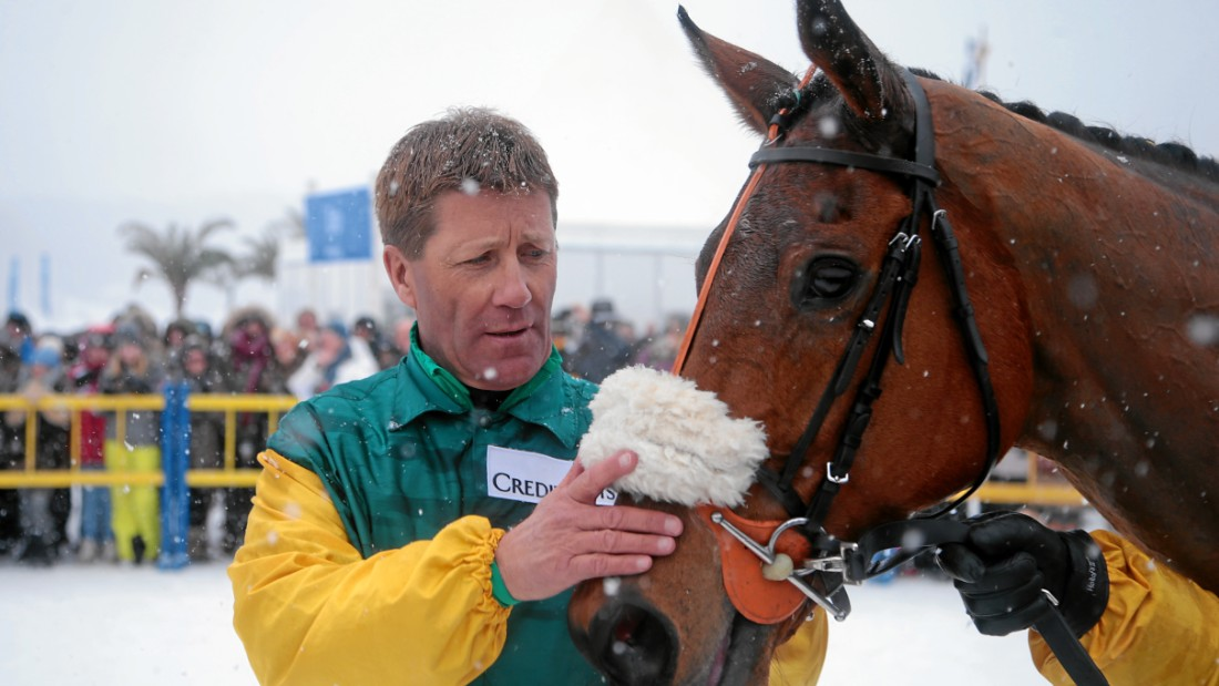 In St Moritz, which hosts three skijoring races a year, Franco Moro is very much the king of the discipline.