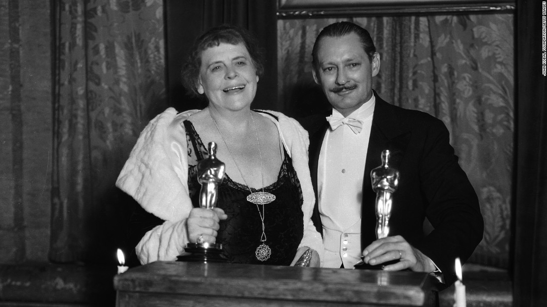 "Lionel Barrymore, here with ""Min and Bill"" best actress winner Marie Dressler, won the best actor Oscar for his work in ""A Free Soul."" Barrymore played an alcoholic lawyer whose daughter gets involved with a mobster he helped go free."