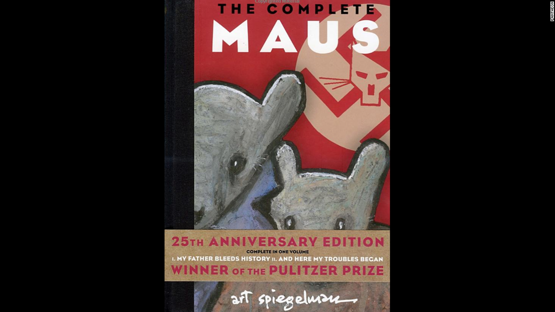 """The Complete Maus,"" Art Spiegelman: The Holocaust takes on the form of cats (Nazis) and mice (Jews) in Spiegelman's classic graphic novel, based on his father's stories of survival. The complete work -- originally published as entries in Spiegelman's magazine, Raw -- was published in 1991."