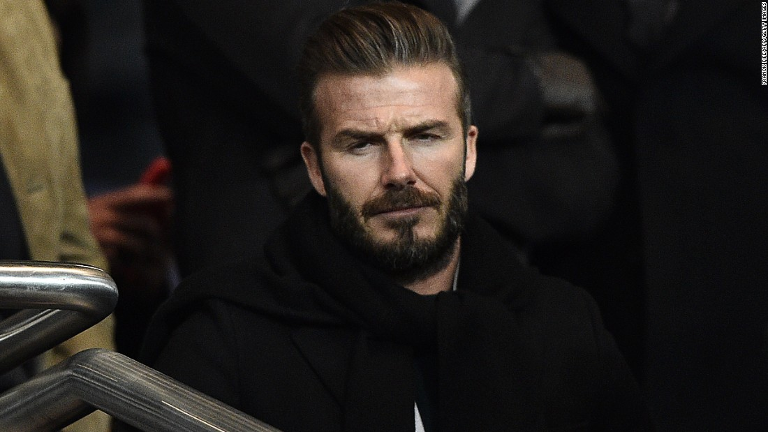 David Beckham, who enjoyed a spell with PSG towards the end of his career, watched the action from the stands alongside Alex Ferguson, his former manager at Manchester United.
