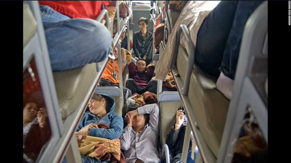 The Lunar New Year is the only time year China's army of migrant workers gets to go home. They squeeze into trains and buses for the Spring Festival break, and after the New Year festivities, the nightmare starts over as they travel back to the factories in which they work.