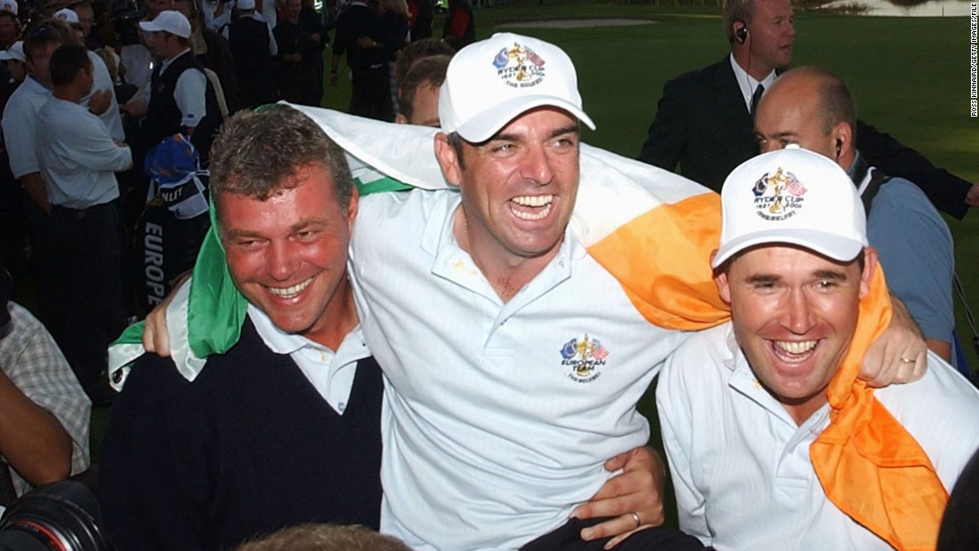 After a year's postponement due to the 9/11 tragedy in New York, Clarke was back on the winning side in 2002 when Europe regained the trophy thanks to a 15½ - 12½ victory at the Belfry near Birmingham.