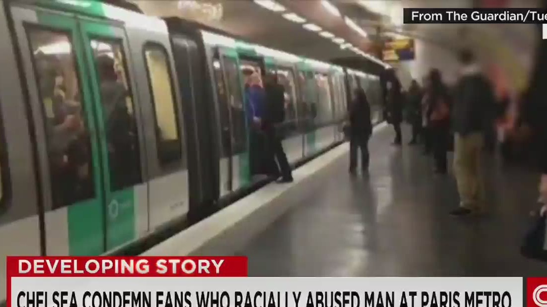 Abused Metro man wants racist Chelsea 'fans locked up'