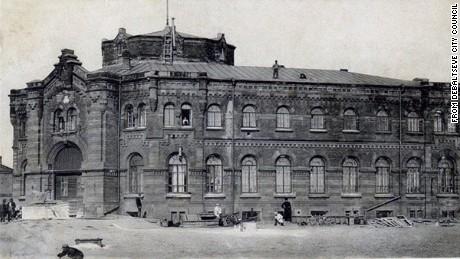 An old photograph of Debaltseve railway station. It was established as a rail hub in 1878.