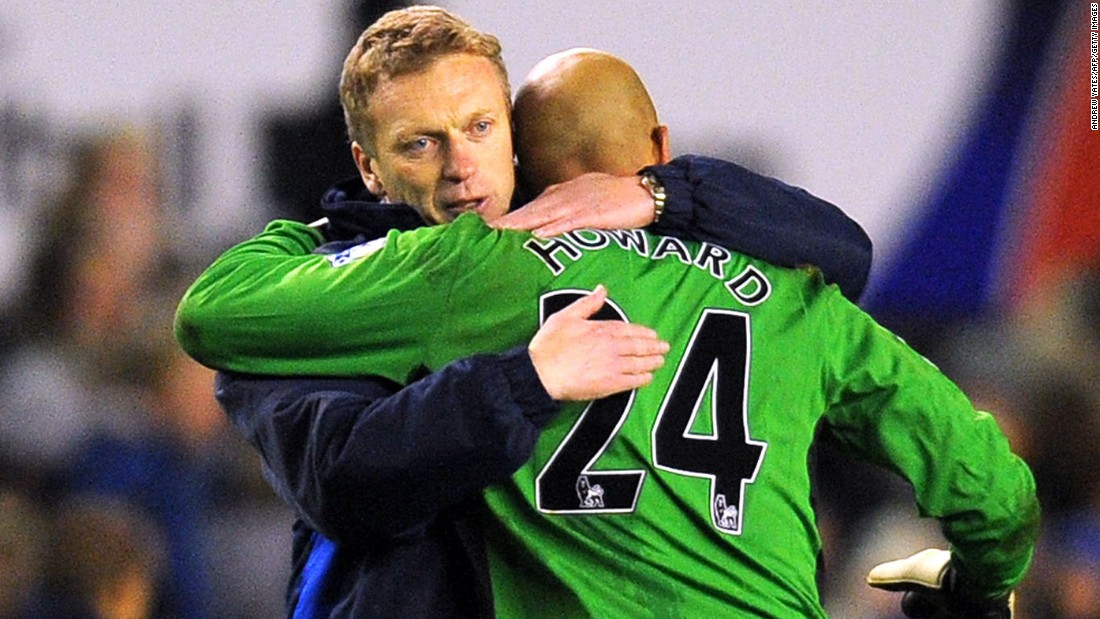 "Howard is playing under Roberto Martinez at Goodison Park. He hasn't, though, forgotten about former boss David Moyes. ""He's an incredible human being,"" says Howard."