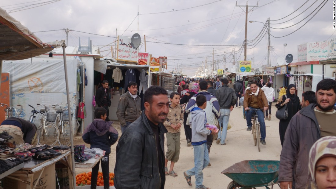 More than 2,000 shops have popped up at the Zaatari camp in northern Jordan over the past three years, many of them lining a street that has been dubbed Champs-Elysees.