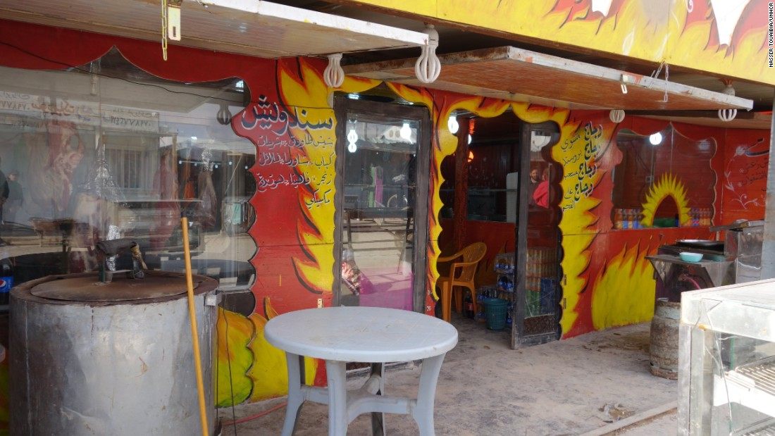The Zaatari refugee camp contains hundreds of restaurants, stores and markets. Some are pop-up shops, others are more finished and much like you'd find in cities around the world.
