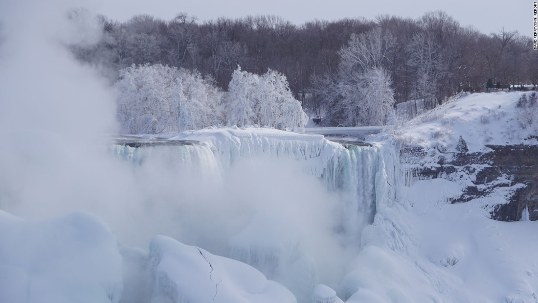"<a href=""http://ireport.cnn.com/docs/DOC-1217536"">Perry</a> also trekked to the falls Monday, when he spotted some unusual frozen formations."