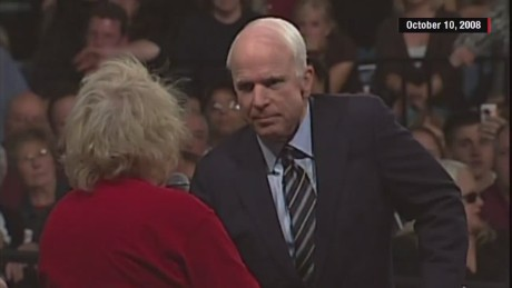 Flashback: McCain tells supporter Obama is 'a decent, family man'