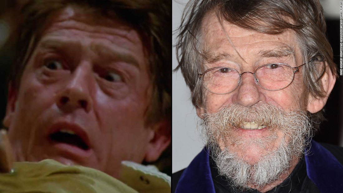 "In the first film's bloodiest and most famous scene, John Hurt gave unexpected birth to an alien that burst from his chest. The British actor, who died in January 2017, went on to appear in ""The Elephant Man,"" ""V for Vendetta,"" ""Indiana Jones and the Kingdom of the Crystal Skull"" and the ""Harry Potter"" film series."