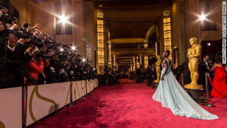 Lupita Nyong'o attends the Oscars at Hollywood & Highland Center on March 2, 2014 in Hollywood, California.  (Photo by Christopher Polk/Getty Images)