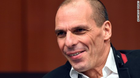 Greek Finance Minister Yanis Varoufakis attends an emergency Eurogroup finance ministers meeting at the European Council in Brussels on February 20, 2015. Eurogroup head Jeroen Dijsselbloem was working overtime on February 20 to save a make-or-break meeting on Greece's demand to ease its bailout programme as Germany insisted it stick with its austerity commitments. After days of sharp exchanges, the 19 eurozone finance ministers gathered for the third time in little over a week to consider Athens' take-it or leave-it proposal to extend an EU loan programme which expires this month. AFP PHOTO / EMMANUEL DUNANDEMMANUEL DUNAND/AFP/Getty Images
