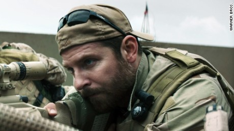 "Bradley Cooper portrays Chris Kyle in ""American Sniper."""