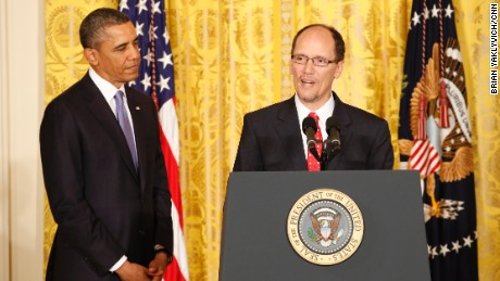 Tom Perez with President Barack Obama