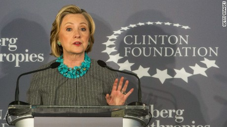 NEW YORK, NY - DECEMBER 15: Former U.S. Secretary of State and first lady Hillary Clinton speaks at a press conference announcing a new initiative between the Clinton Foundation, United Nations Foundation and Bloomberg Philanthropies, titled Data 2x on December 15, 2014 in New York City. Data 2x aims to use data-driven analysis to close gender gaps throughout the world. (Photo by Andrew Burton/Getty Images)