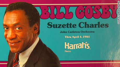 Heidi Thomas saved a postcard from Cosby's performance at Harrah's.