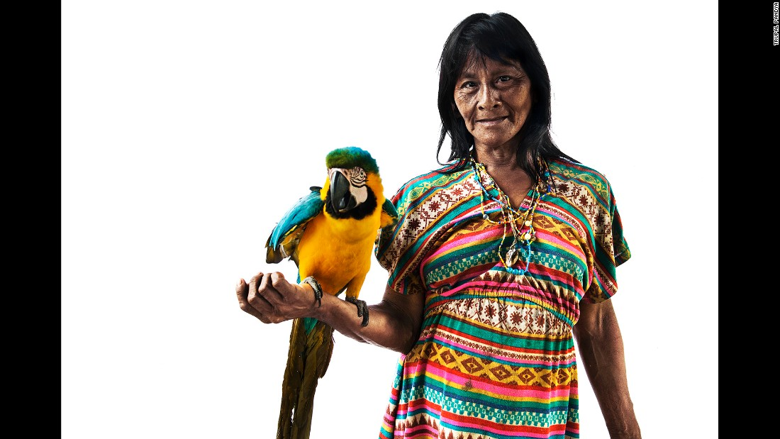 "Macaws and parrots are a common sight in the Huaorani home, Pandya said. The Huaorani, which means ""the people,"" or ""human beings,"" are believed to have inhabited the Amazon rainforest for thousands of years. Until about the 1960s, they never had any contact with the outside world."