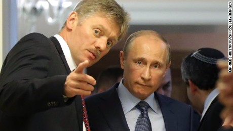 Dmitry Peskov, spokesman for Russian President Vladimir Putin, is married to a former figure skater.