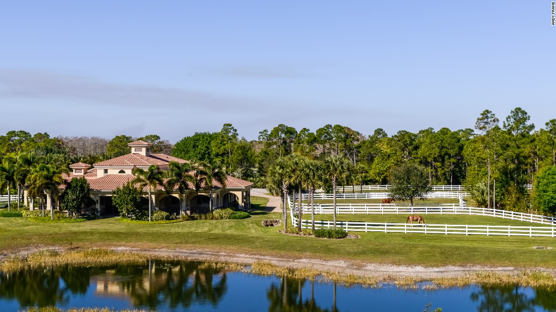 The grounds are located in the gated community of Ranch Colony in Jupiter, Florida.