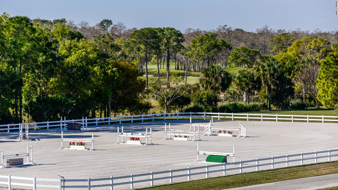 The luxurious property comes with a large show jumping arena ...