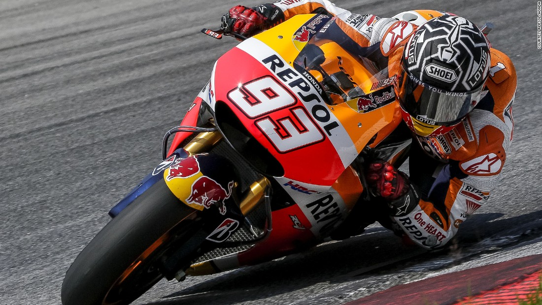 Reigning world champion Marc Marquez led the way at pre-season testing at Malaysia's Sepang International Circuit. The Spaniard clocked a time of one minute 59.115 seconds.