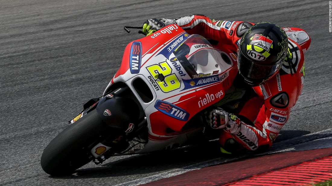 Crutchlow's replacement at Ducati, Andrea Iannone finished a very promising fourth.
