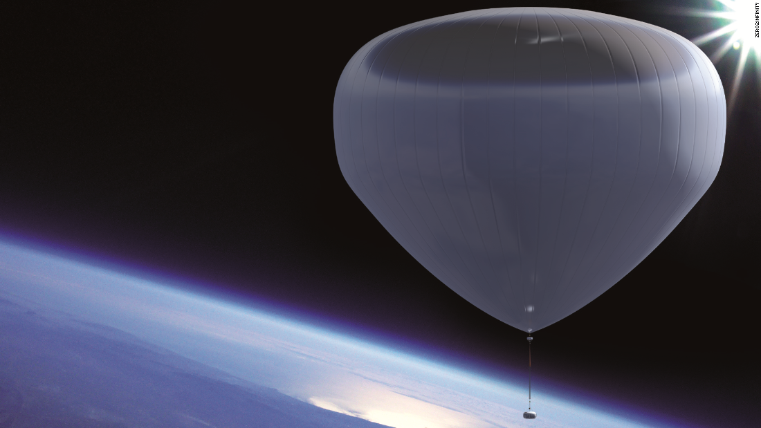 "Zero2infinity plans to launch passengers to near space using ""Bloons,"" for €110,000 ($124,000) a time. Balloons would take between 1.5-2 hours to reach maximum altitude."