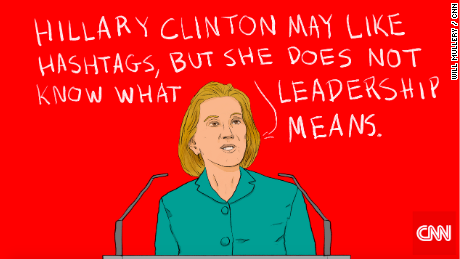 Former HP CEO Carly Fiorina focused her speech on Hillary Clinton.