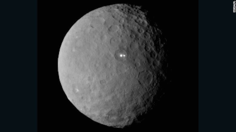 Mysterious bright spots on dwarf planet?