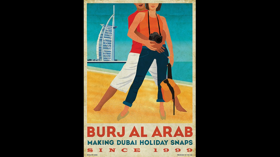 dubai clare napper designs retro travel posters cnn travel