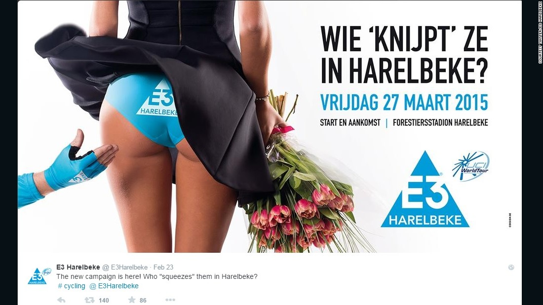 The poster which appeared on E3 Harelbeke's Twitter feed, advertising their 2015 race.