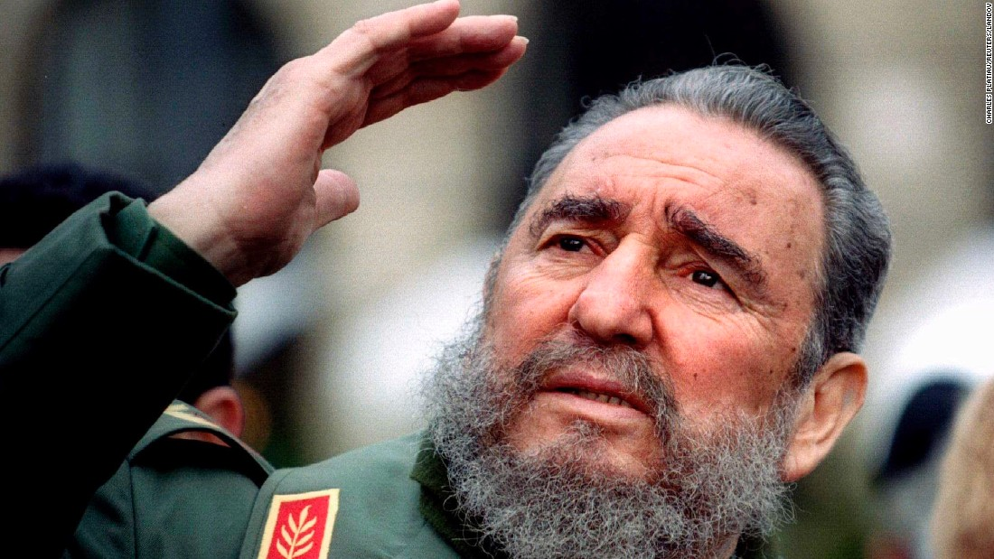Castro visits Paris in March 1995.