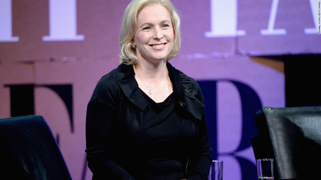 "Kirsten Gillibrand: The New York senator has said she'll support Hillary Clinton ""110 percent."""