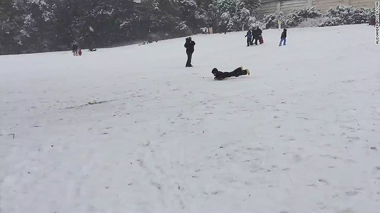 Sledding ban defied on Capitol Hill